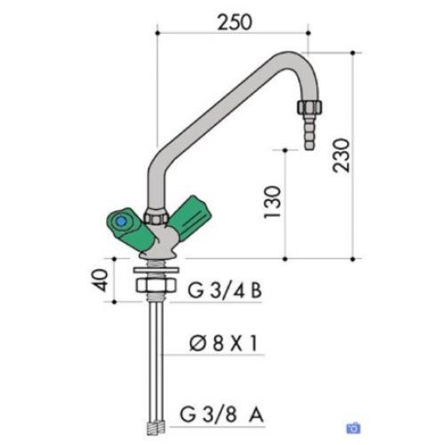 Single Hole Laboratory Mixer Tap (1000/275)