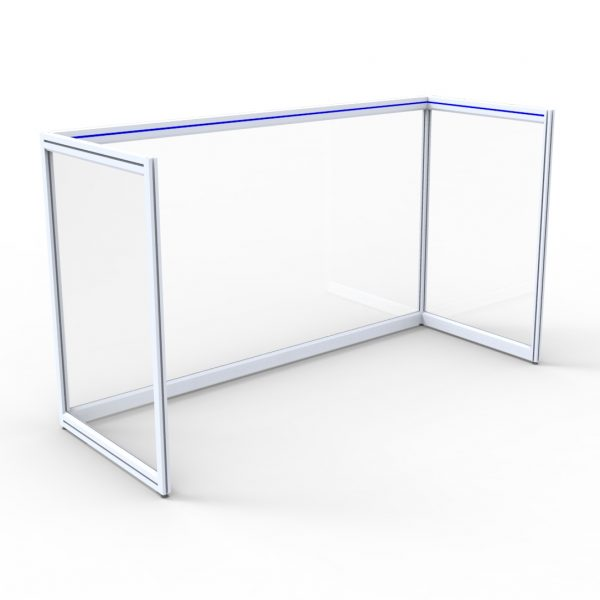 Desk Surround C only with clear rear panel